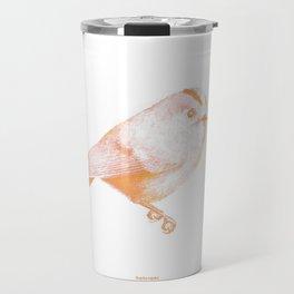 Goldcrest (Regulus regulus) - orange and yellow Travel Mug