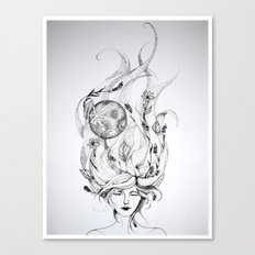 Divine Mother Moon Earth Canvas Print