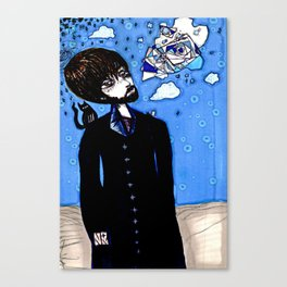 Sky Anomaly Figure Canvas Print