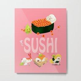 Cute Sushi Metal Print