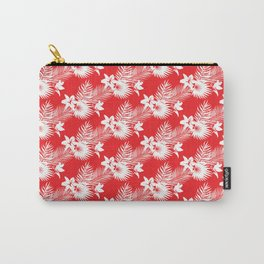 Palms in red Carry-All Pouch