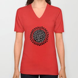 Seed heads on red Unisex V-Neck
