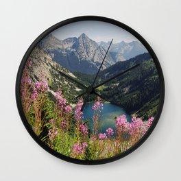 Cascade Summer Wildflowers Wall Clock