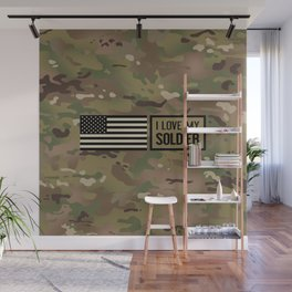 I Love My Soldier (Camo) Wall Mural