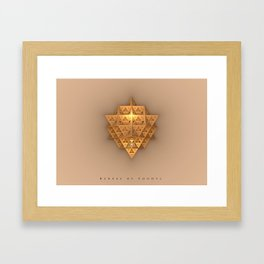 1st Sacred Geometry of the ReXxel, high vibes Framed Art Print