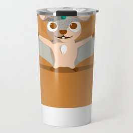 The Dino-zoo: Flying squirrel-saurus Travel Mug