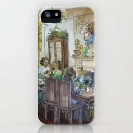 Steampunk Family Dinner iPhone Case