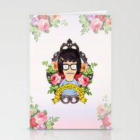 tina crespo Stationery Cards featuring Tina - Everything's ok face  by Sara Eshak