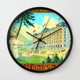 Chamonix-Mont-Blanc - Cachat's Majestic Wall Clock
