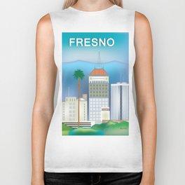 Fresno, California - Skyline Illustration by Loose Petals Biker Tank