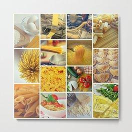Collage Pasta food Metal Print