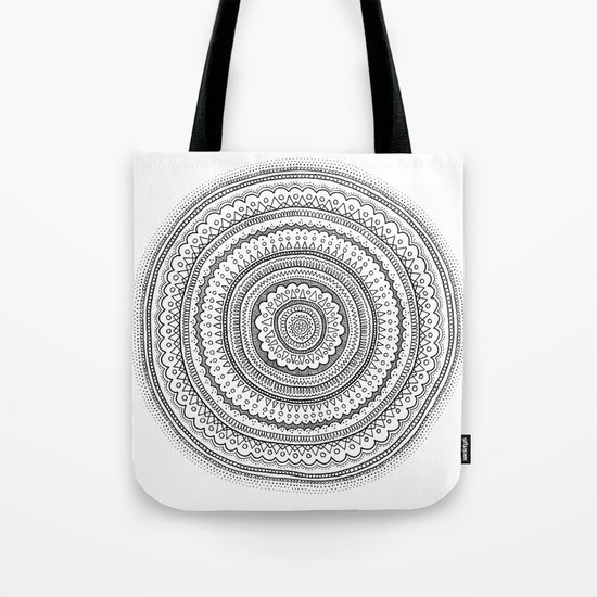 Carousel in B&W Tote Bag