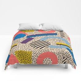Memphis Inspired Pattern 3 Comforters
