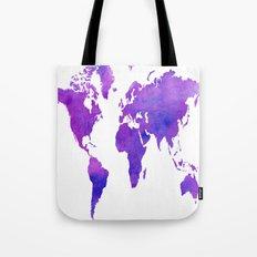 Purple Map Tote Bag