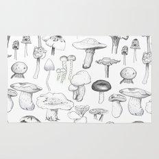 The mushroom gang Rug
