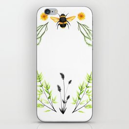 Bees in the Garden - Watercolor Graphic iPhone Skin