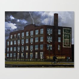 """Hurry out of the Rain"" Canvas Print"