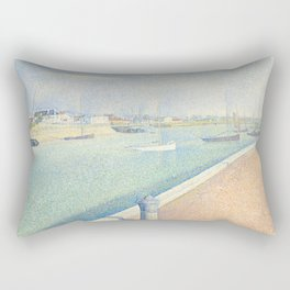 The Channel of Gravelines, Georges Seurat Rectangular Pillow