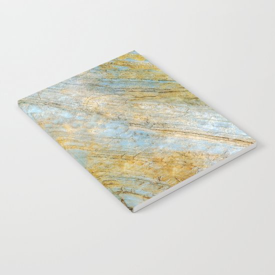 Blue and Gold Marble Notebook