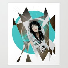 BAT FOR LASHES & The Mask Art Print
