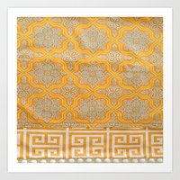 orange pattern Art Prints featuring OrangE paTTern by ''CVogiatzi.