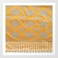 "orange pattern Art Prints featuring OrangE paTTern by ""CVogiatzi."