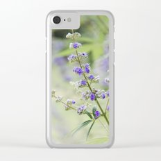 Lavender 2 Clear iPhone Case