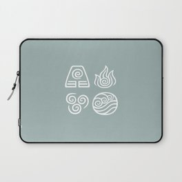 Bending All Four Elements – Water Laptop Sleeve