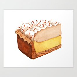 Coconut Cream Pie Slice Art Print
