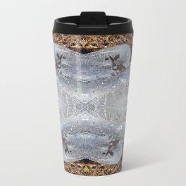 Ice Jewels and Pine Needles - Debra Cortese photo art Metal Travel Mug
