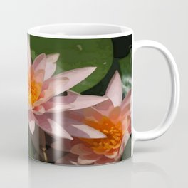 Beautiful Peach Waterlily Vector Coffee Mug
