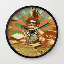 AFTERNOON PSYCHEDELIA Wall Clock