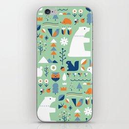 Forest animals iPhone Skin