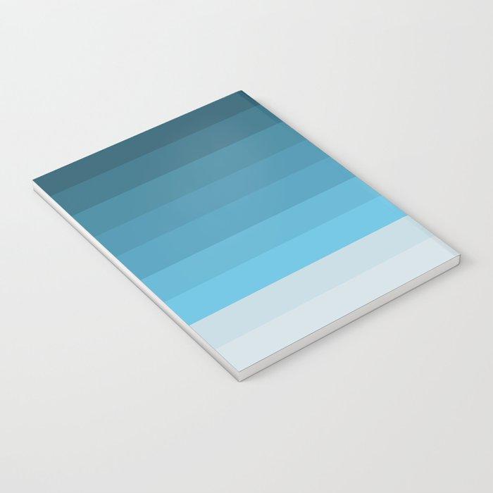 Blue Lagoon stripes pattern Notebook