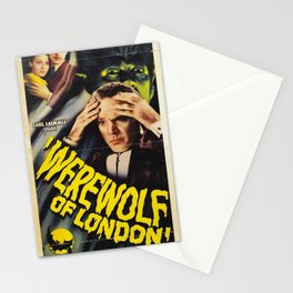 Werewolf of London, vintage horror movie poster 3 Stationery Cards