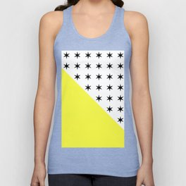 Black Stars And Sunshine Yellow - Colourful pattern Unisex Tank Top