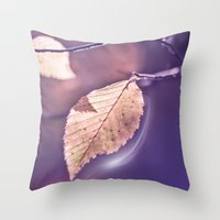 poem Throw Pillows featuring LIGHT POEM by INA FineArt