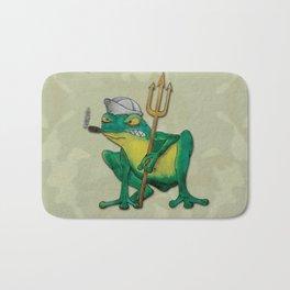 Navy Frog Bath Mat