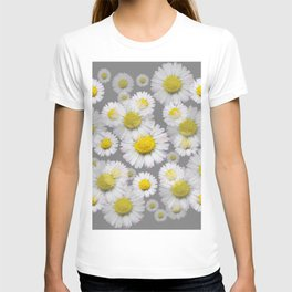 GREY GARDEN OF SHASTA DAISY FLOWERS ART T-shirt