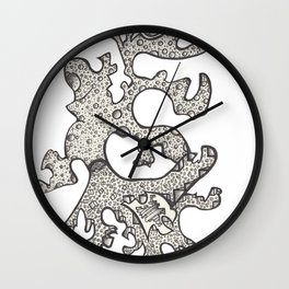 Squares and spheres Wall Clock