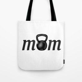 Strong MOM Kettlebell for Crossfitters Tote Bag