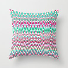 Making Waves Pink and Preppy Throw Pillow