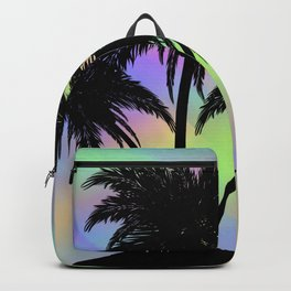 Small island silhouette Backpack