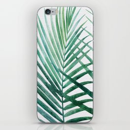 Emerald Palm Fronds Watercolor iPhone Skin