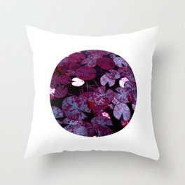 lily pads XII Throw Pillow