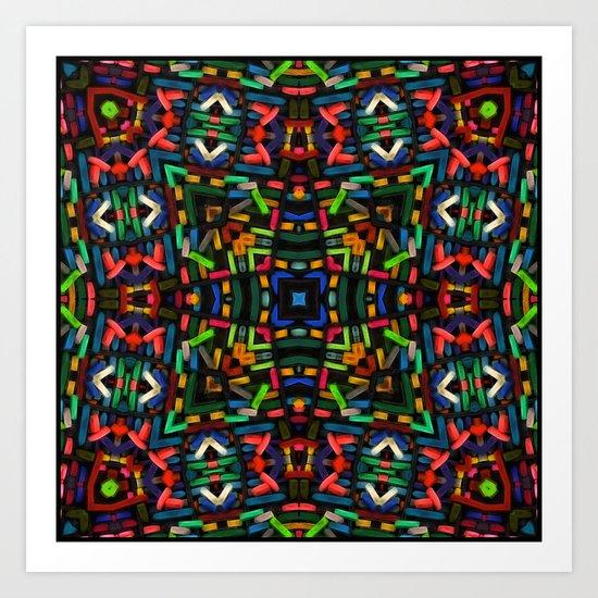 Pastel Chalk Kaleidoscope Art Print