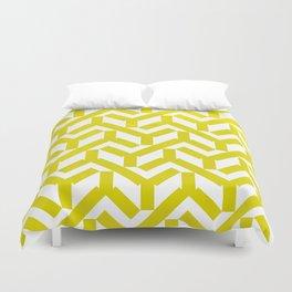Yellow Geometry Pattern Duvet Cover