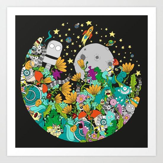 Fantasy kids world Art Print