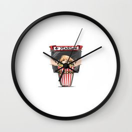 4 years of popcorn Wall Clock