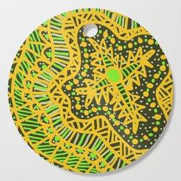 Doodle 16 Yellow Cutting Board